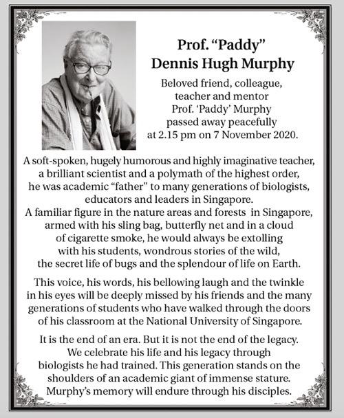 Paddy Murphy RIP orbituary